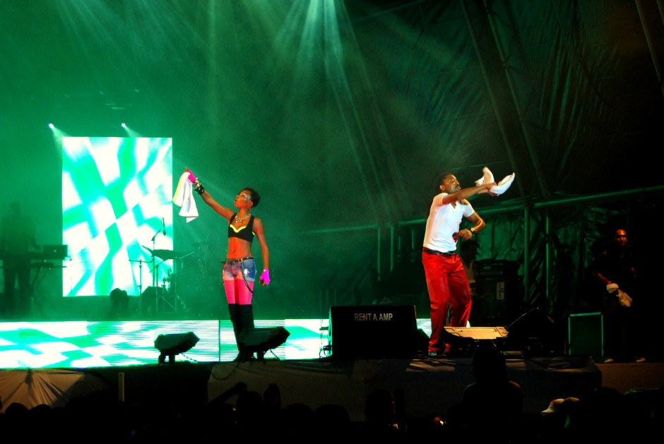 Machel_Montano_and_Patrice_Roberts_on_Stage