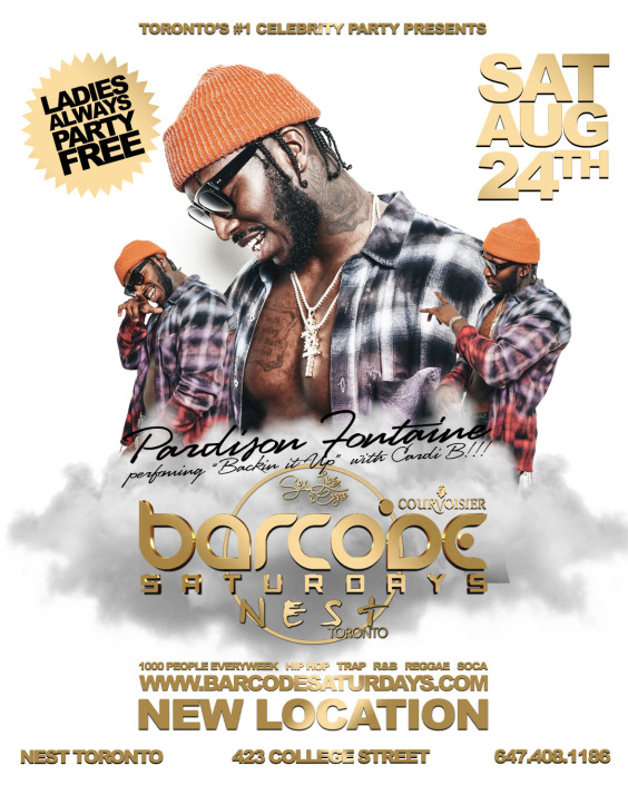 Barcode Saturdays w/ PARDISON FONTAINE @ NEST TORONTO