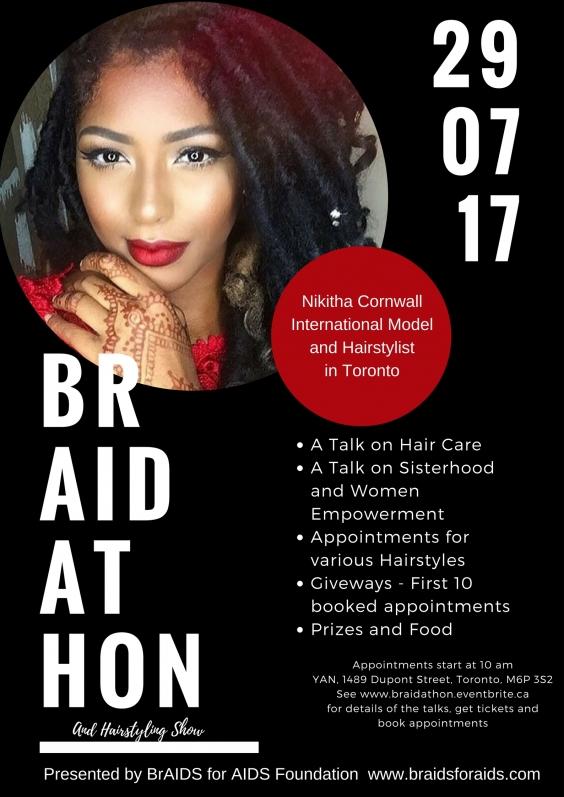 BrAIDathon and HairStyling Show with Model, Nikitha Cornwall