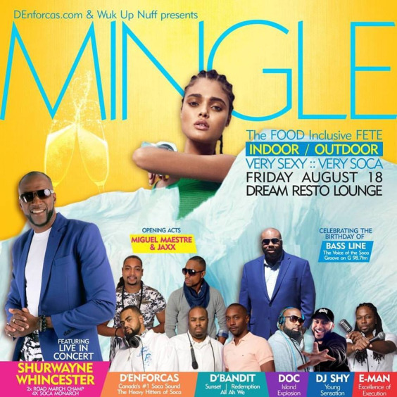 MINGLE: The Indoor/Outdoor FOOD INCLUSIVE featuring SHURWAYNE WINCHESTER