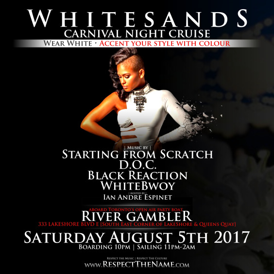 WHITESANDS - Carnival Saturday Night All White & Accent Boat Cruise