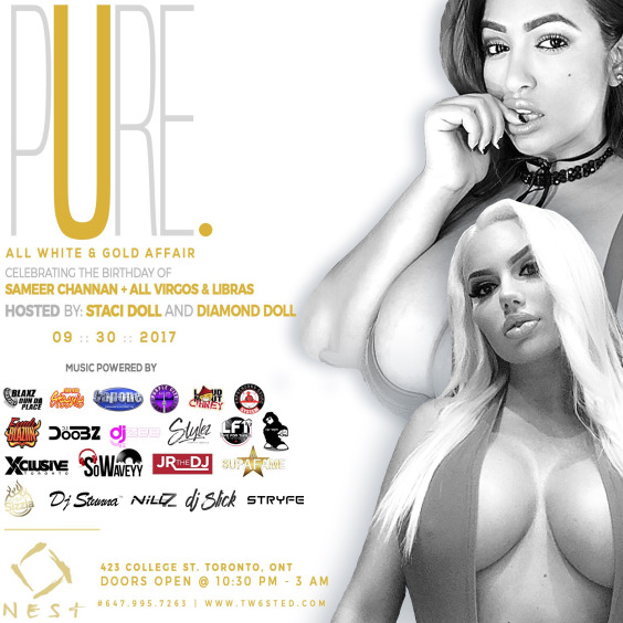 PURE: All White Affair | Hosted By Staci + Diamond Doll | Sept 30th