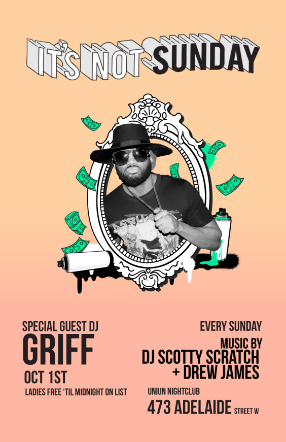 ITS NOT SUNDAY HIPHOP Party w/ DJ Griff