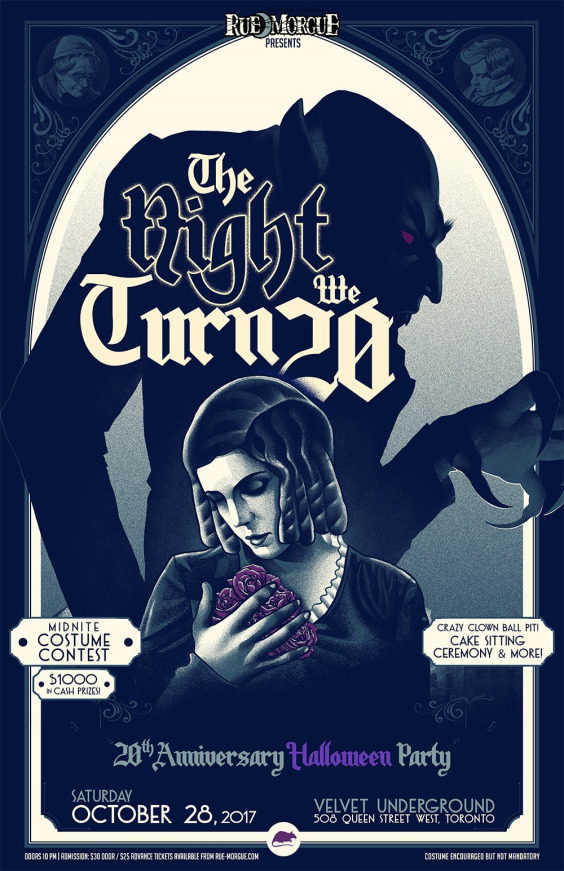 RUE MORGUE Presents: THE NIGHT WE TURN 20 Anniversary Halloween Party