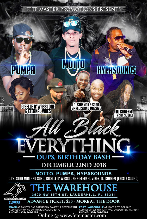 All Black Everything: Dups - Birthday Bash