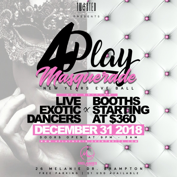 4Play Masquerade: XXX Edition | Celebrity Ball Drop | Dec 31st 2018