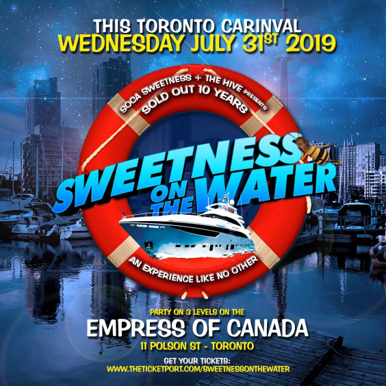 SWEETNESS ON THE WATER ~ All SOCA STARS Experience