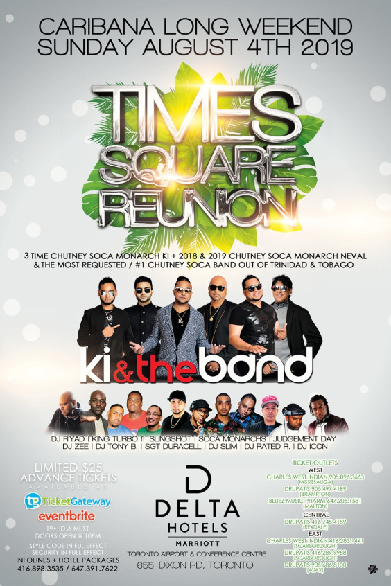 CARIBANA SUNDAY- THE RETURN OF TIME SQUARE REUNION