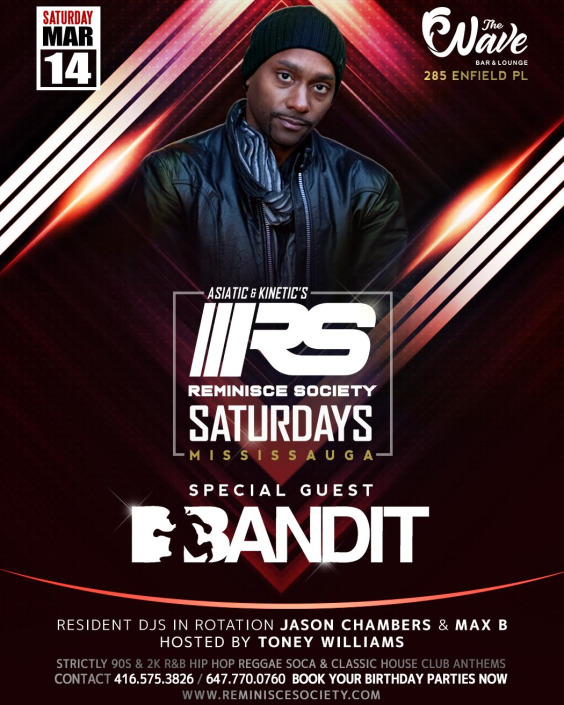 REMINISCE SOCIETY SATURDAYS FEATURING SPECIAL GUEST DJ D'BANDIT
