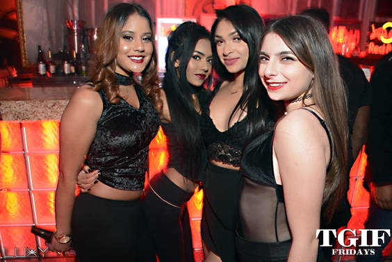 TGIF FRIDAYS - ALL BLACK EVERYTHING INSIDE LUXY NIGHTCLUB